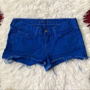 J. Brand cut off jean shorts blue bright royal